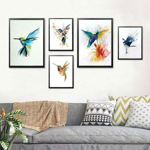 Canvas Print - Watercolor Hummingbirds | A Deal Each Week