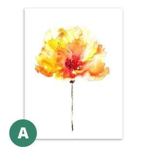 Open image in slideshow, Canvas Print - Watercolor Flowers | A Deal Each Week