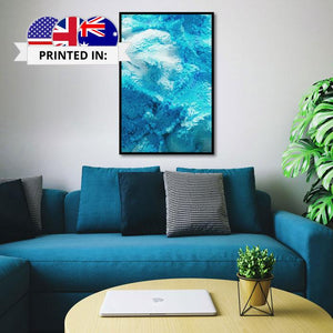 Canvas Print - Blue Blocks (Framed) | A Deal Each Week.