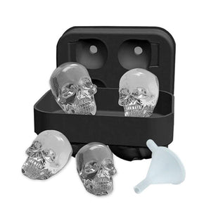 Soft Silicone Ice Molds - 3D Skulls | A Deal Each Week