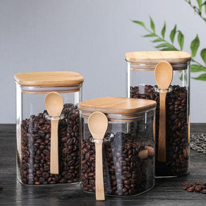 Square Sealed Jar with Spoon | A Deal Each Week