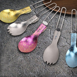 Titanium Folding Spoon / Spork | A Deal Each Week