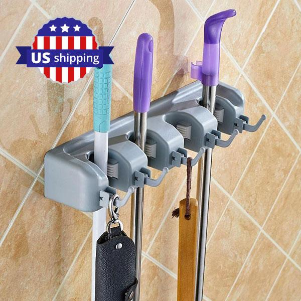 Mop and Broom Storage Holder | A Deal Each Week