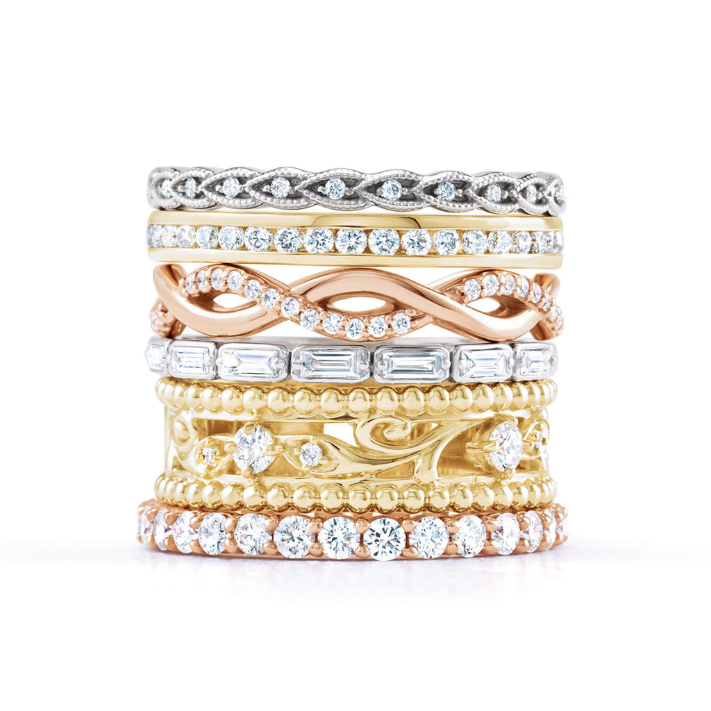 Ladies Stackable Eternity Diamond Design Bands