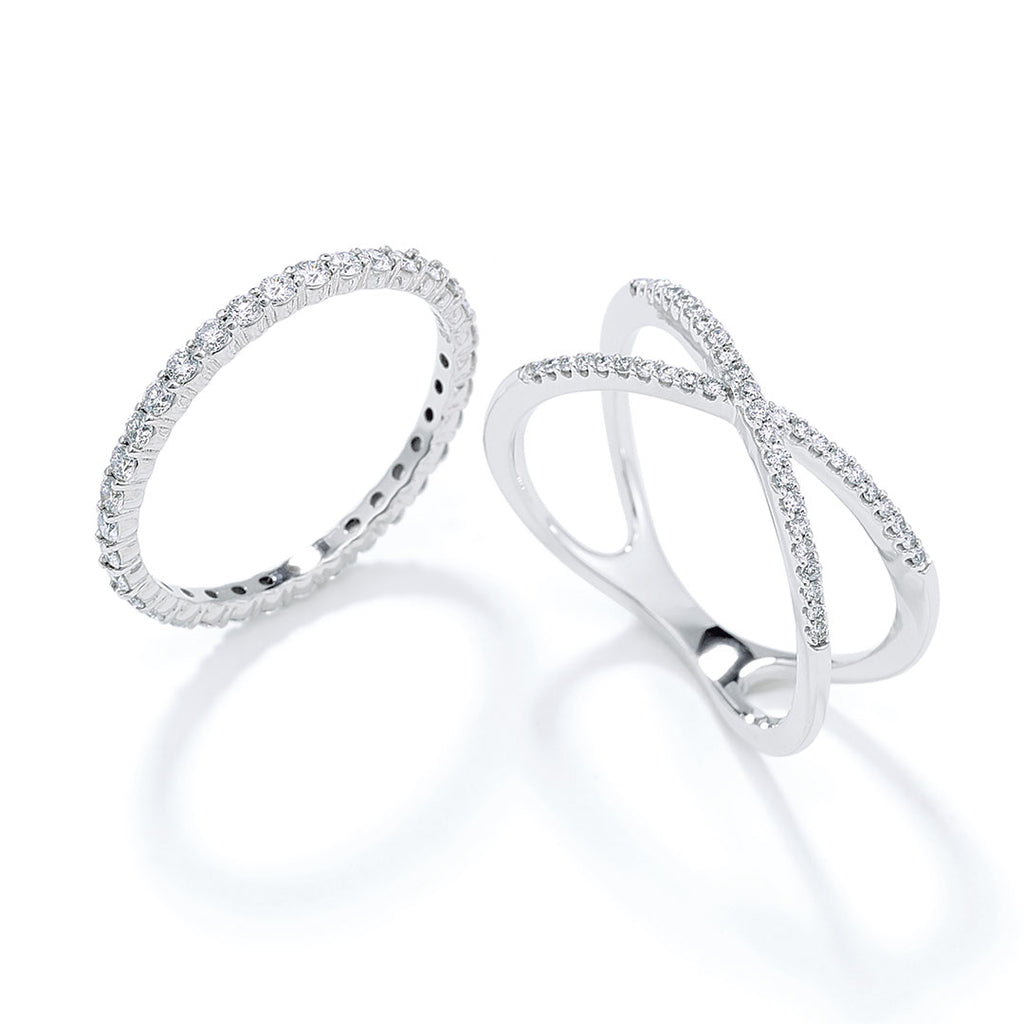 Ladies Classic and Criss Cross Diamond Bands