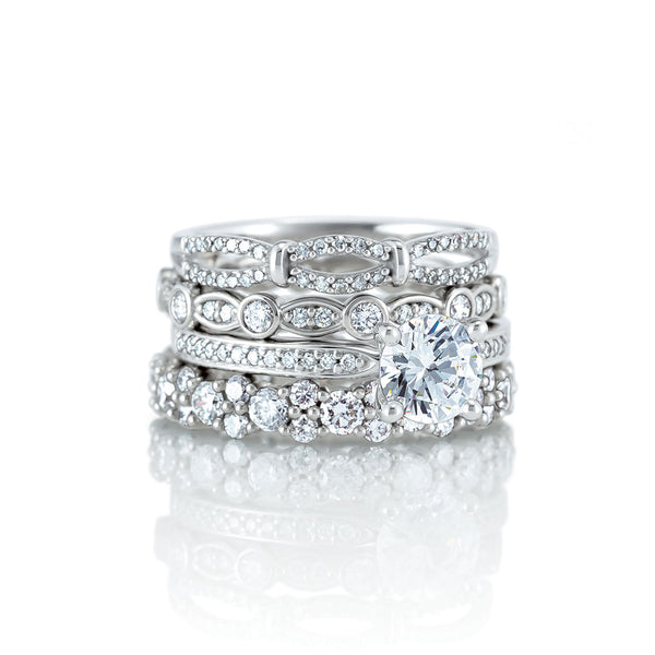 Ladies Stackable Diamond Bands