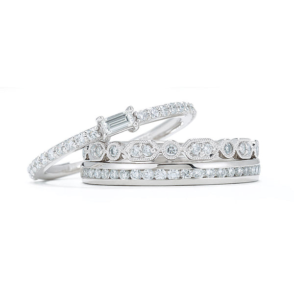 Ladies Trio Diamond Bands