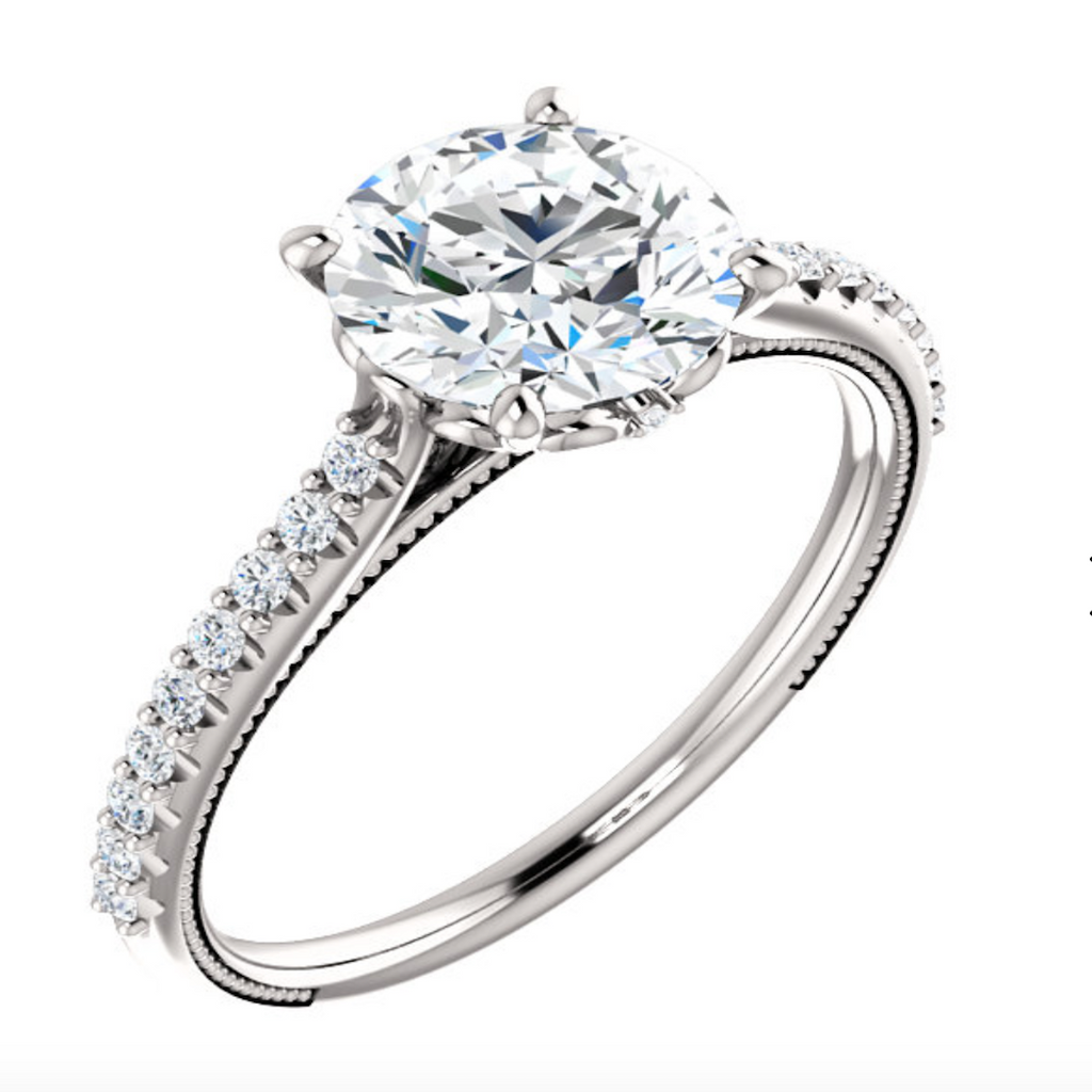 Petite Lace Diamond Ring