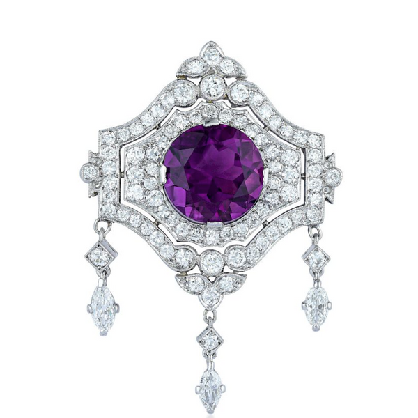 Amethyst and Diamond Pendant & Brooch