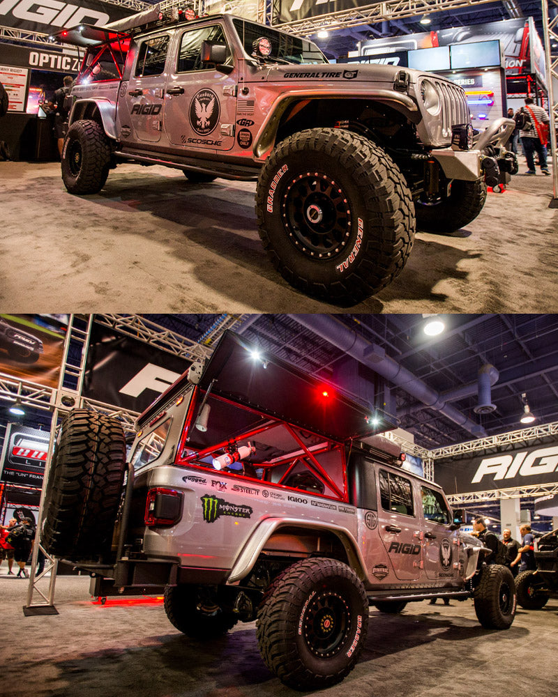 STEEL-IT, Camburg, Jeep Gladiator, Rigid Industries, SEMA Show, Bink Designs