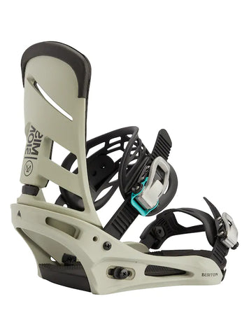 Burton Men's Mission Re:Flex Snowboard Binding 2021 - Gray/Green