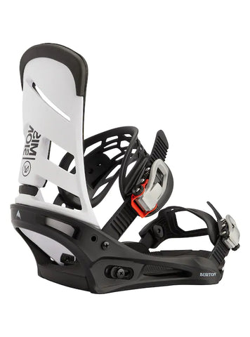 Burton Men's Mission Re:Flex Snowboard Binding 2021 - White/Black