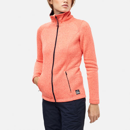 O'Neill Women's Piste Full Zip Fleece Fusion Coral