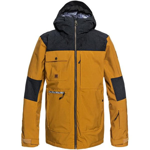Quiksilver Men's Arrow Wood Jacket - Golden Brown