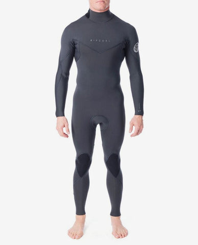 "Rip Curl Dawn Patrol 3/2 Back Zip Wetsuit ""Charcoal Grey"""