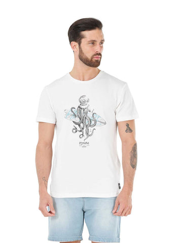 "Picture Octopus T-Shirt ""White"""