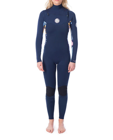 "Dawn Patrol 3/2mm Chest Zip Womens Wetsuit Steamer ""Navy"""