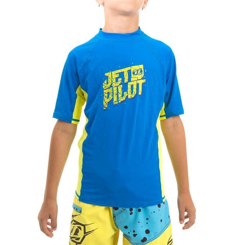 JetPilot Youth Short Sleeve Rashie Blue