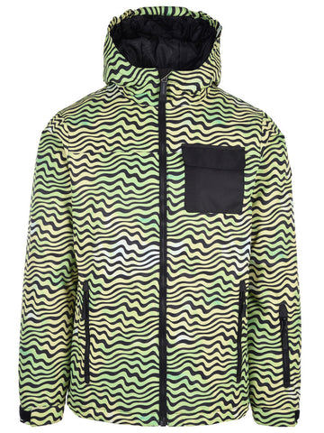 Surfanic Bravo Surftex Ski Jacket Youth - 1523 LIME ACID PRINT