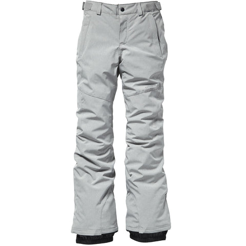 O'Neill Girl's Charm Slim Pants Silver Melee