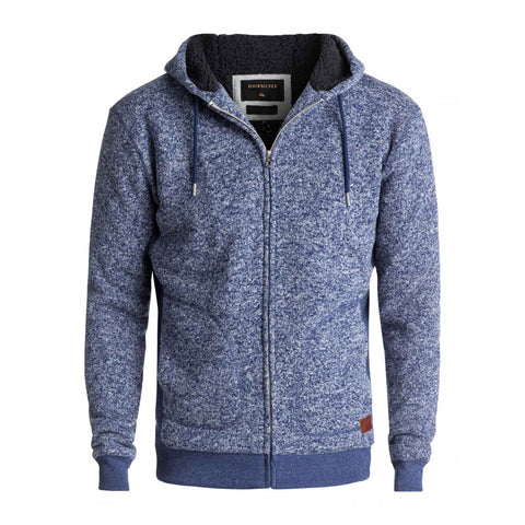Quiksilver Men's Keller Sherpa Hoodie Light Blue
