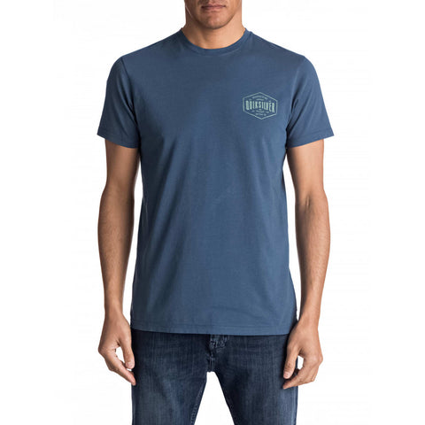 Quiksilver Men's Cut Back 2 Tee Blue