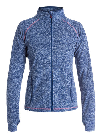 Roxy Women's Harmony Technical Fleece Hoodie - Ink Blue