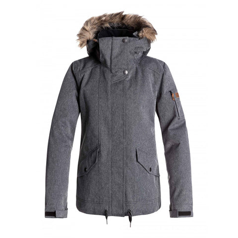 Roxy Women's Grove Jacket - Herringbone Grey