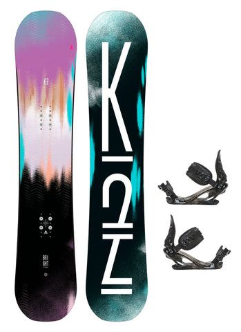 K2 Women's Bright Lite Snowboard with K2 Charm Binding Package 2018