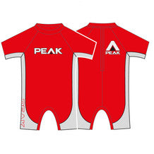 Peak Groms Energy Short Sleeve Springsuit Red