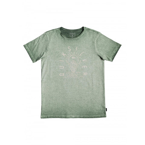 "Quiksilver Shaka Sunset Short-Sleeved Youth Shirt ""Agave Green"""