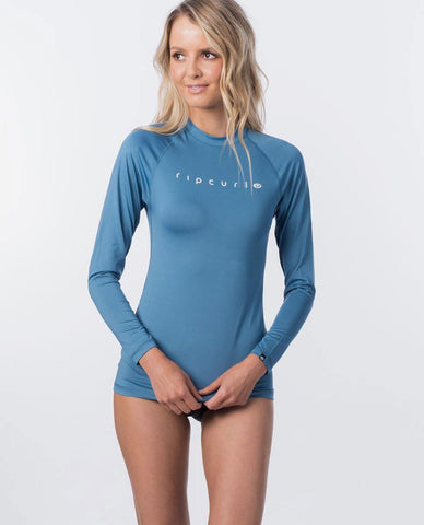 Rip Curl Sunny Rays Relaxed Fit Long Sleeve Woman Rash Guard - Demin Blue