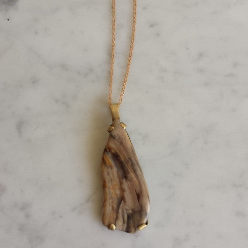 Petrified Sequoia Necklace