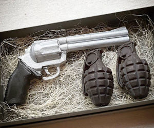 Gift Box Soap Gun Grenade For Men Boyfriend Best Friend Birthday Husband