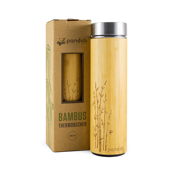 Bambus thermobecher 480ml pandoo