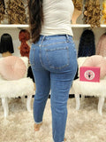 Dark Denim Wash Jeans - The Pink Makeup Box
