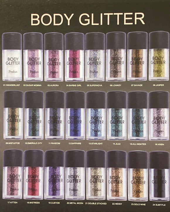 Body Glitter - The Pink Makeup Box
