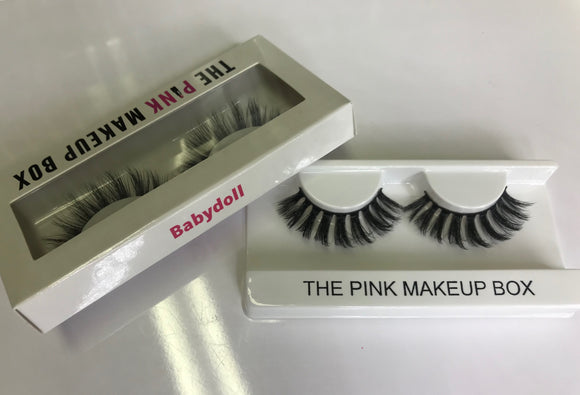 """Babydoll"" Premium Silk Lashes - The Pink Makeup Box"