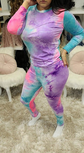 Tie Dye 2 Piece Set - The Pink Makeup Box