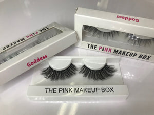"""Goddess"" Premium Silk Lashes - The Pink Makeup Box"