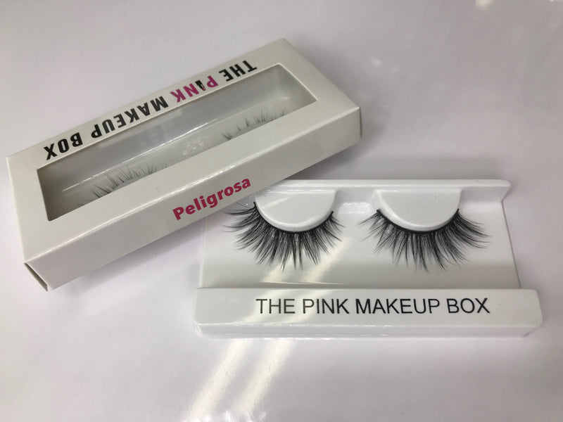 """Peligrosa"" Premium Silk Lashes - The Pink Makeup Box"