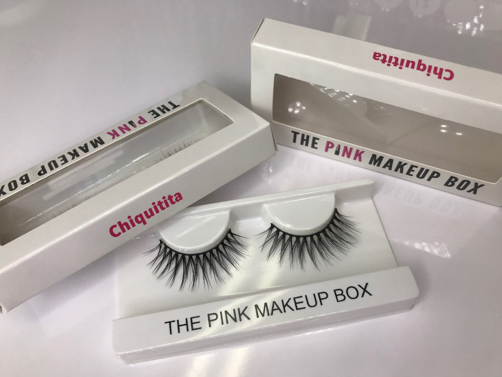 """Chiquitita"" Premium Silk Lashes - The Pink Makeup Box"