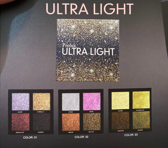 Ultra Light Pressed Glitter Palette GOLD COVER