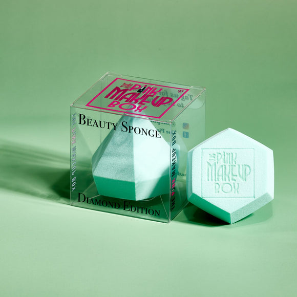 Beauty Sponge (Diamond Editon) - Turquoise - The Pink Makeup Box