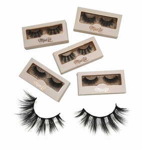 Miss Lil Usa Eyelashes #34 Cream Collection