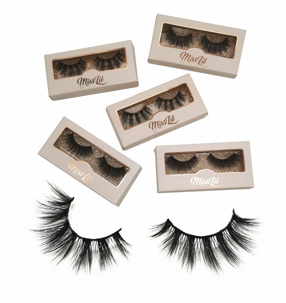 Miss Lil Usa Eyelashes #34 Cream Collection - The Pink Makeup Box