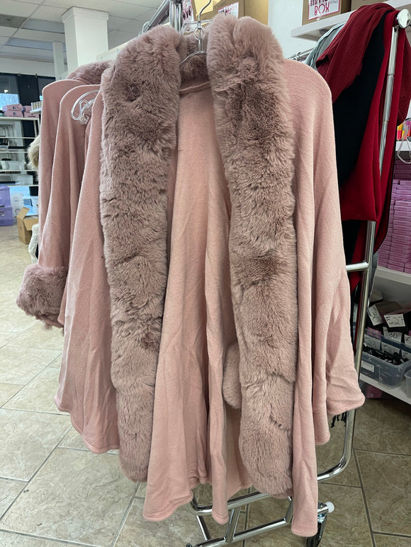 Pink Fur Coat ONE SIZE