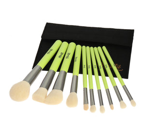 Miss Lil USA 10pc Brush set - Neon green