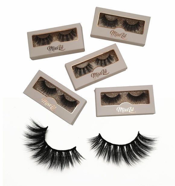 Miss Lil Usa Eyelashes #36 Cream Collection - The Pink Makeup Box