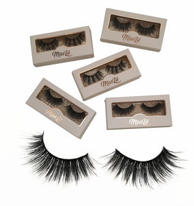 Miss Lil Usa Eyelashes #25 Cream Collection